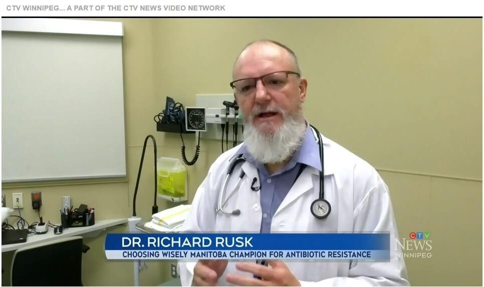 Dr. Richard Rusk on CTV Winnipeg for Antibiotic Awareness Week